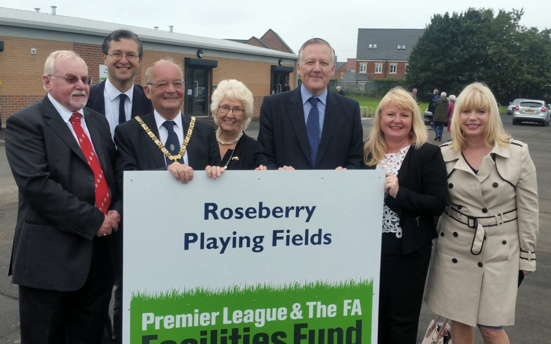 Kevan opens new Football Facilities at old Roseberry School Site.
