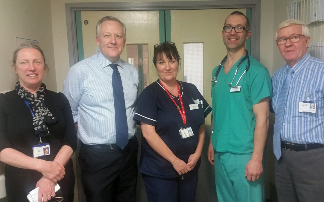 Kevan visits University Hospital North Durham