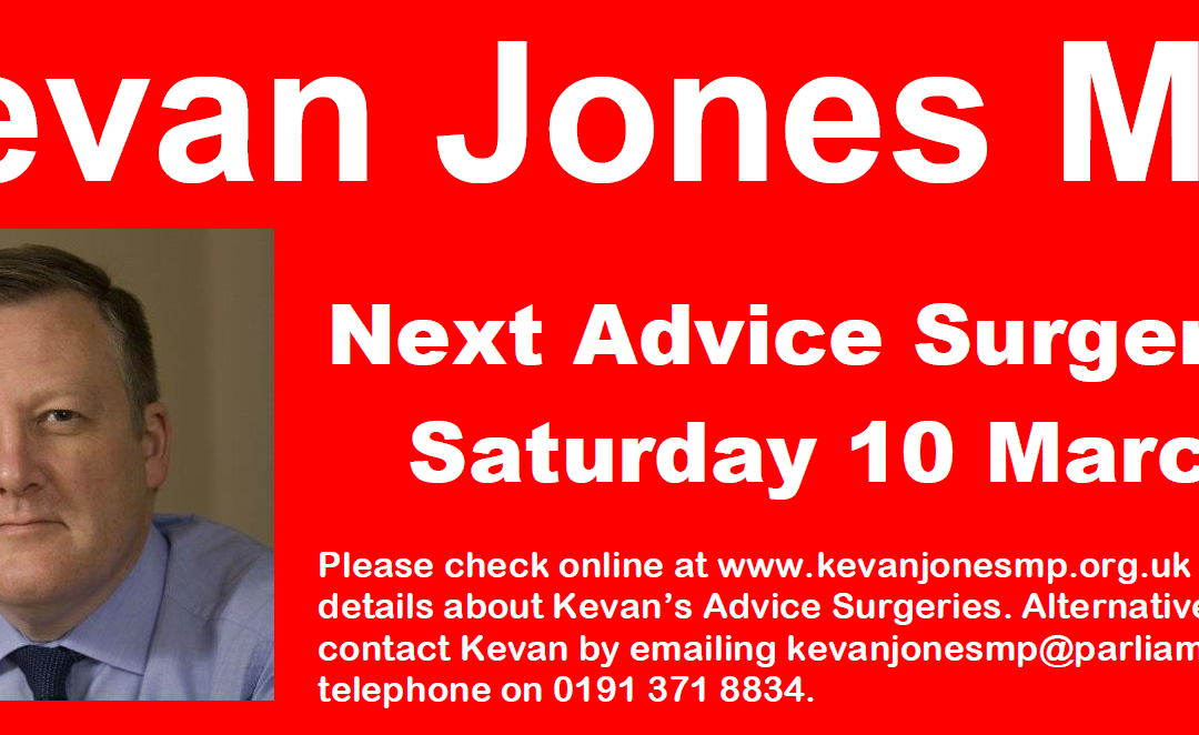 Advice Surgeries Tomorrow