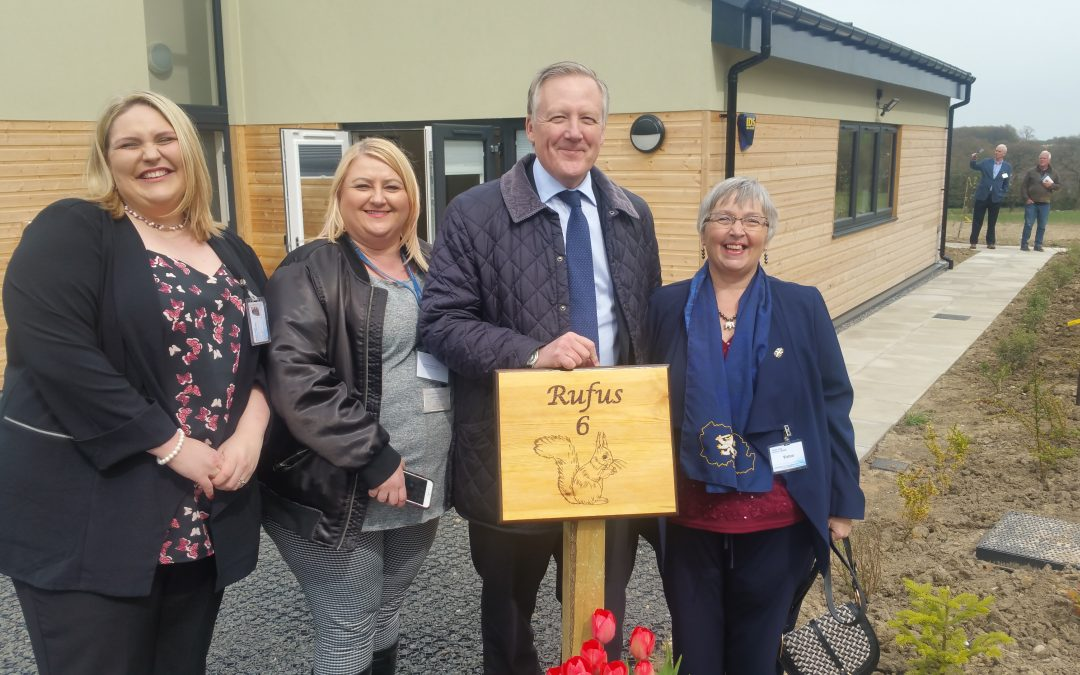 Kevan attended the opening of the North East Autism Society's new Short Break Lodges in County Durham