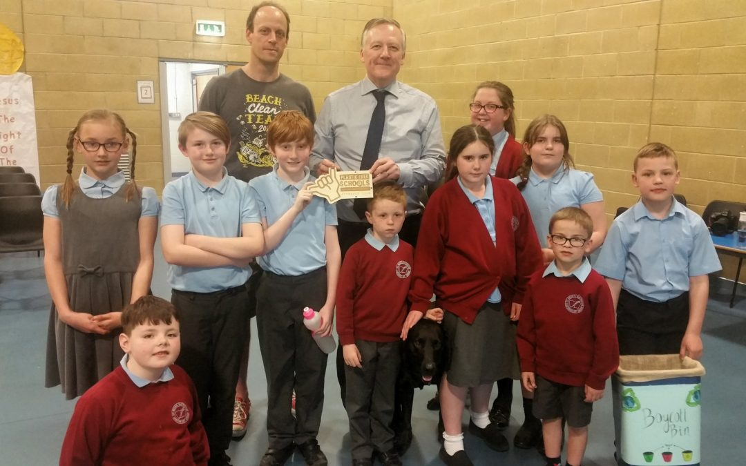 Kevan visits St Bede's RCVA School in Sacriston