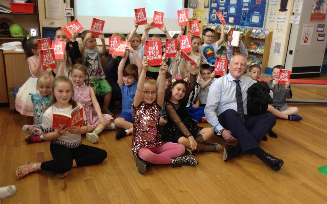 Stanley school children celebrate poetry prize with local MP
