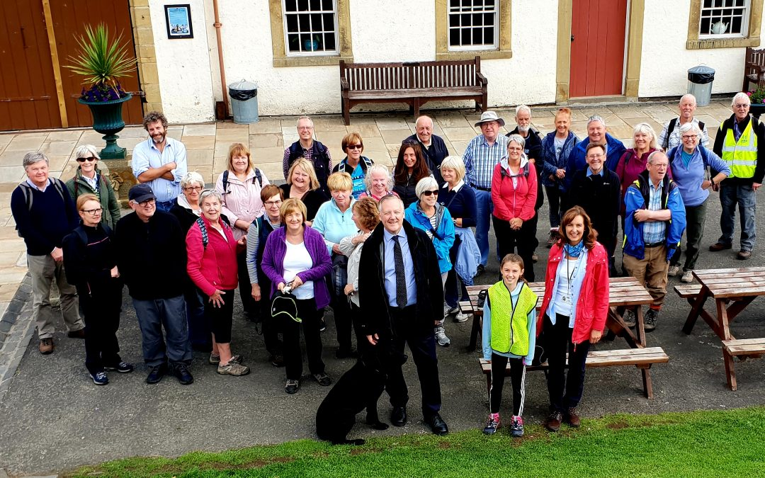 Kevan meets with walking group at Beamish Museum