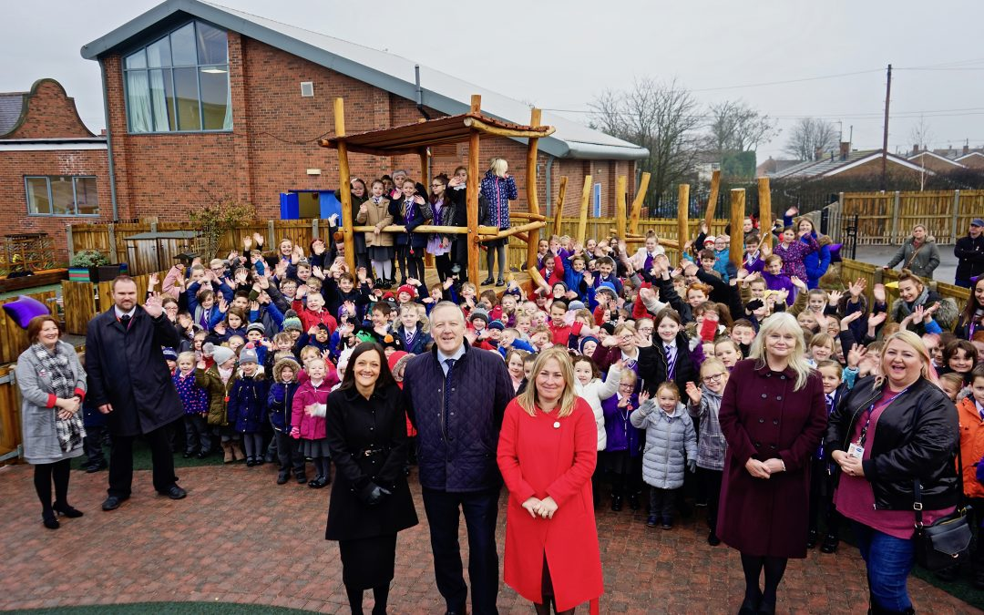 Kevan opens new playground at Sacriston Academy