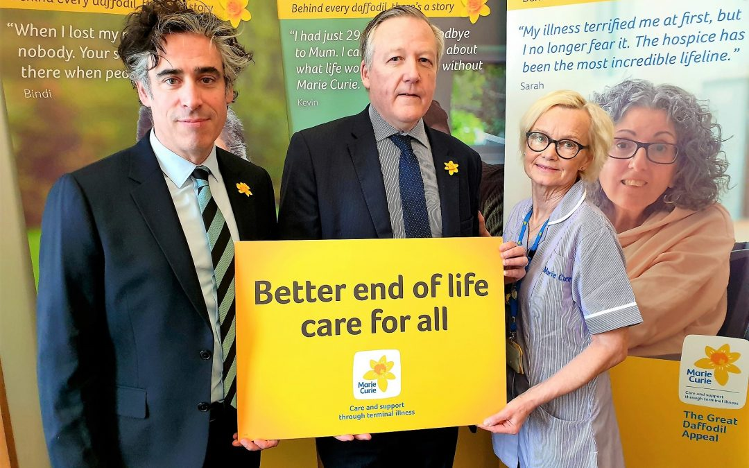 Kevan supports Marie Curie in Parliament and in Perkinsville