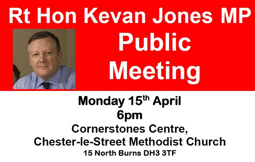Public Meeting – Monday 15 April