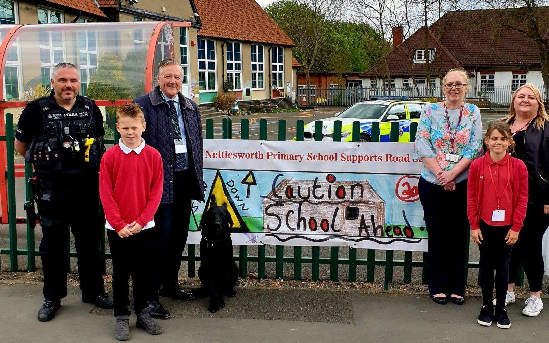 Kevan backs pupils' campaign on road safety