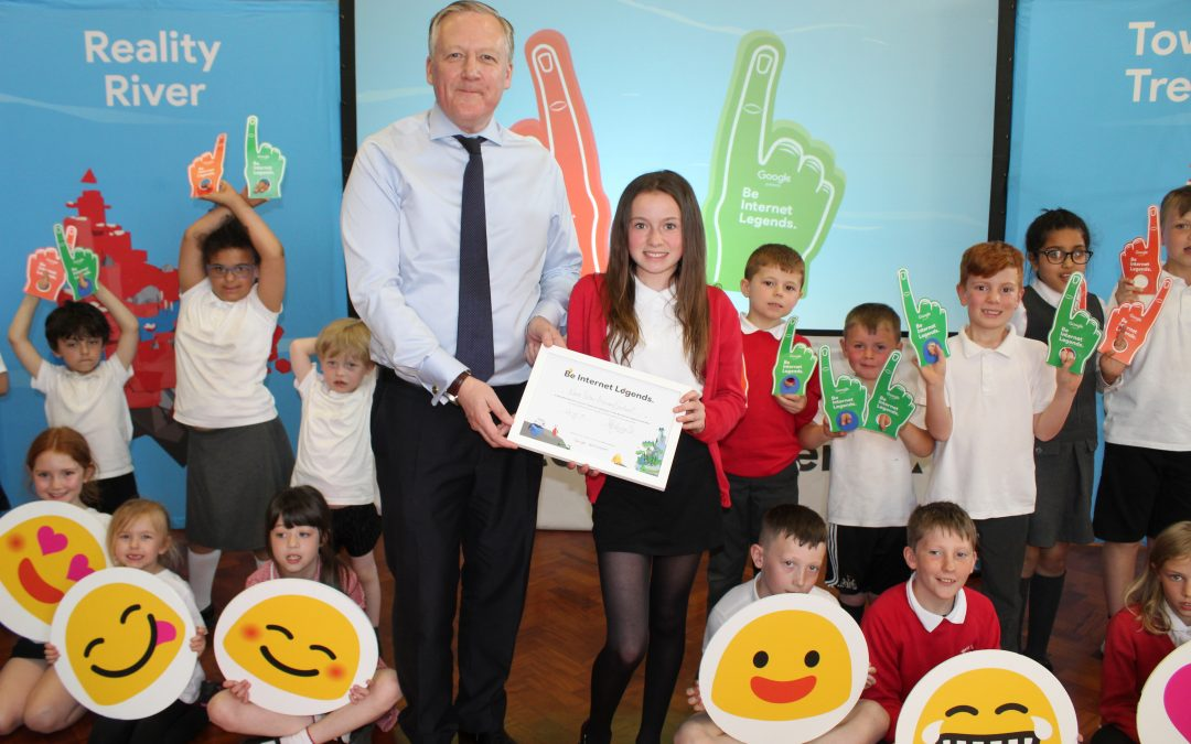 Kevan supports Be Internet Legends Event at West Pelton Primary School