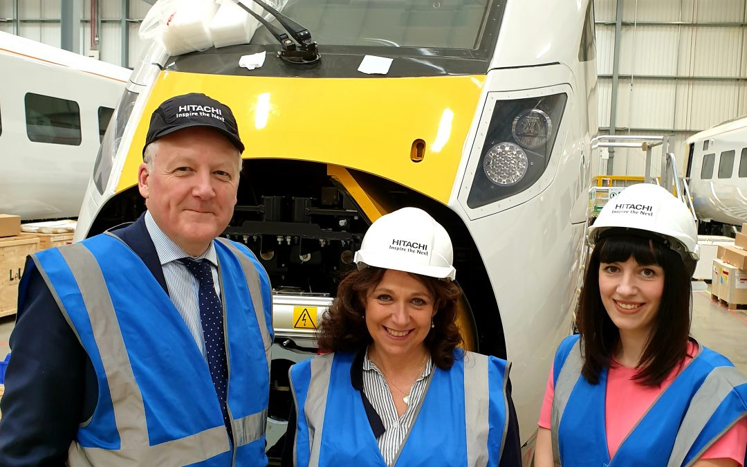 Kevan visits Hitachi Rail Factory