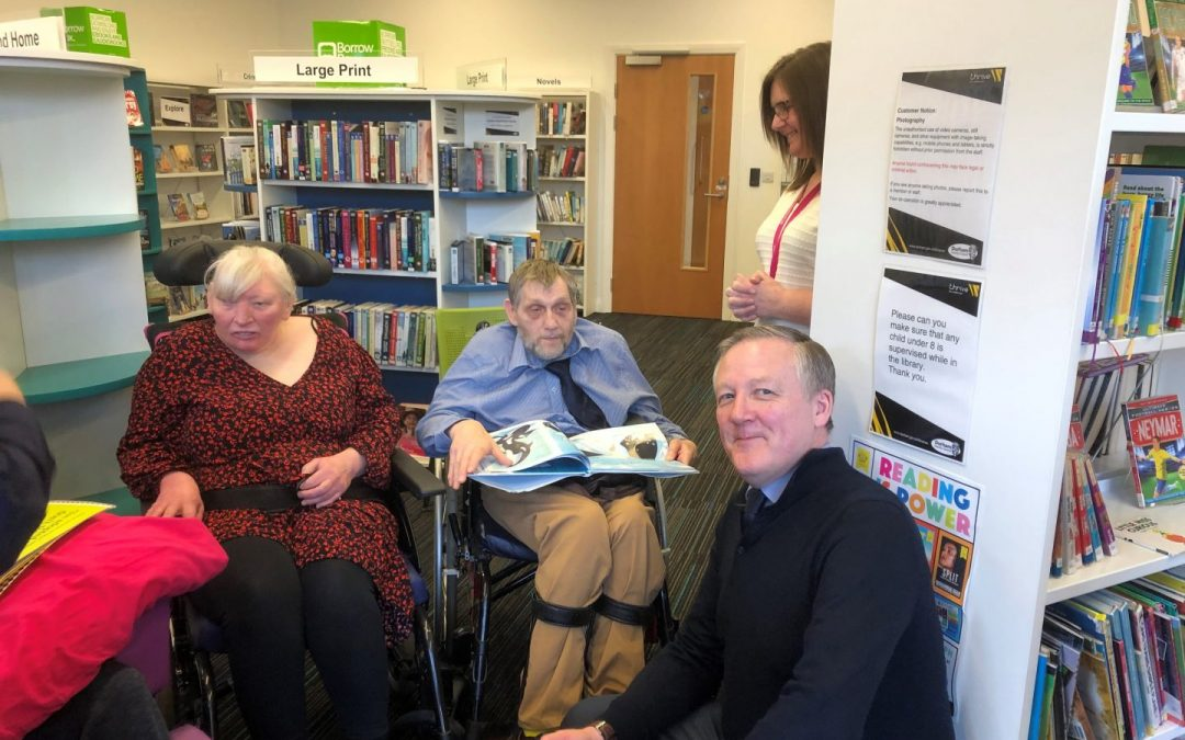 Kevan joins Stanley Library users to celebrate World Book Day