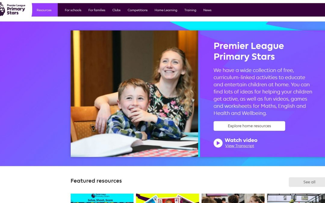 Premier League Primary Stars – Education Resources for Parents and Families