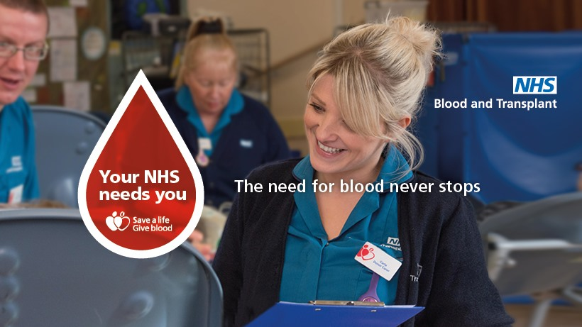 NHS Blood and Transplant & Covid-19
